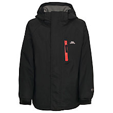 Buy Trespass Boys' Ainslie Waterproof Jacket, Black Online at johnlewis.com