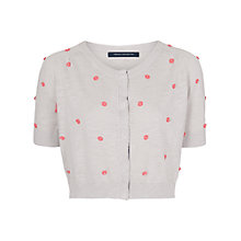 Buy French Connection Polka Flowers Cardigan, Grey Online at johnlewis.com