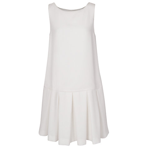 Buy French Connection Helkan Ruffle Dress, Winter White Online at johnlewis.com