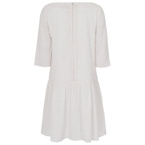 Buy French Connection Sunflower Cotton Dress, White Online at johnlewis.com