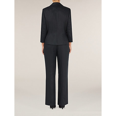 Buy Precis Petite Pleated Collar Linen Jacket, Black Online at johnlewis.com