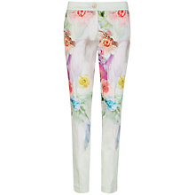 Buy Ted Baker Avalyn Sugar Sweet Floral Print Trousers, Pale Green Online at johnlewis.com