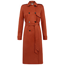 Buy Hobbs Gold Coast Trench Coat, Dark Ginger Online at johnlewis.com
