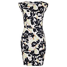 Buy French Connection Lucky Leaves Bodycon Dress, Acid Zest Online at johnlewis.com