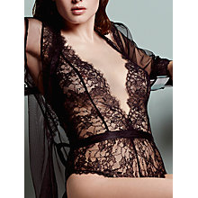 Buy L'Agent by Agent Provocateur Idalia Lace Playsuit, Black Online at johnlewis.com