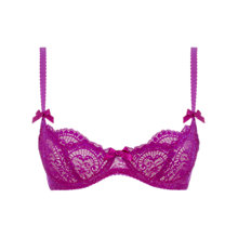 Buy L'Agent by Agent Provocateur Vanessa Non-Padded Demi Bra, Cerise Online at johnlewis.com