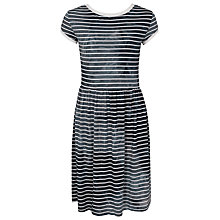Buy French Connection Amelia Stripe Tee Dress, Black/White Online at johnlewis.com