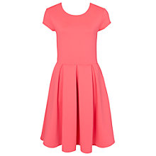 Buy French Connection Natalia Ottoman Capped Sleeve Dress, Party Pink Online at johnlewis.com