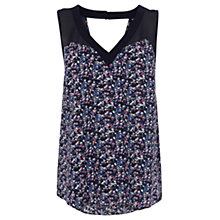 Buy Warehouse Chiffon Mix Printed Vest, Purple Online at johnlewis.com