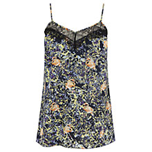 Buy Warehouse Flamingo Print Lace Cami Top, Multi Online at johnlewis.com