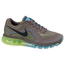 Buy Nike Women's Air Max 2014 Running Shoes, Brown/Green Online at johnlewis.com