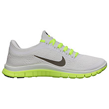 Buy Nike Women's Free 3.0 Running Shoes, White/Green Online at johnlewis.com