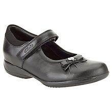 Buy Clarks Daisy Gleam Leather Shoes, Black Online at johnlewis.com