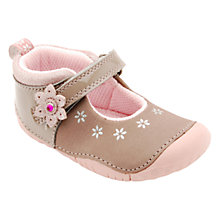 Buy Start-rite Genie Flower Applique Nubuck Shoes, Sand/Pink Online at johnlewis.com