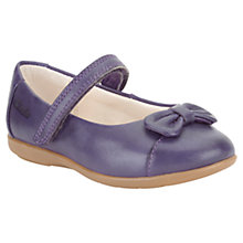 Buy Clarks Harper First Leather Shoes, Purple Online at johnlewis.com