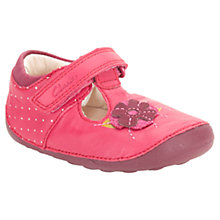 Buy Clarks Childrens' Little Poppy Shoes, Pink/Multi Online at johnlewis.com