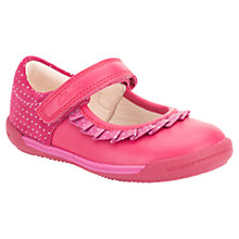 Buy Clarks Childrens' Softly Stef Leather Shoes, Pink Online at johnlewis.com