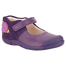 Buy Clarks Binnie Rose Applique Shoes, Purple Online at johnlewis.com