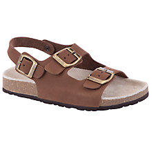 Buy John Lewis Boy Oliver Sandals, Brown Online at johnlewis.com