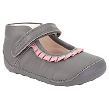 Buy Clarks Childrens' Little Stef Shoes, Grey Online at johnlewis.com