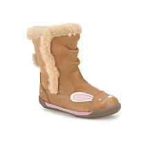 Buy Clarks Children's Iva Hop Boots, Tan Online at johnlewis.com
