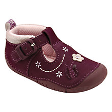 Buy Start-rite Mayflower T-Bar Strap Shoes, Purple Online at johnlewis.com