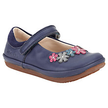 Buy Clarks Children's Elza Lily Leather Shoes, Dark Blue Online at johnlewis.com