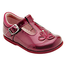 Buy Start-rite Pixie Patent Leather T-Bar Shoes, Berry Online at johnlewis.com