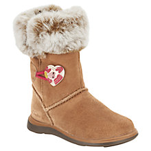 Buy Clarks Children's Snuggle Folk Boots, Brown Online at johnlewis.com