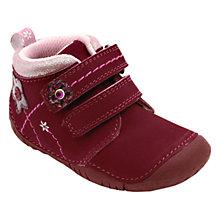 Buy Start-rite Sprite Nubuck Rip-Tape Boots, Berry Online at johnlewis.com