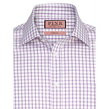 Buy Thomas Pink Bell Check Long Sleeve Shirt, Pink/White Online at johnlewis.com