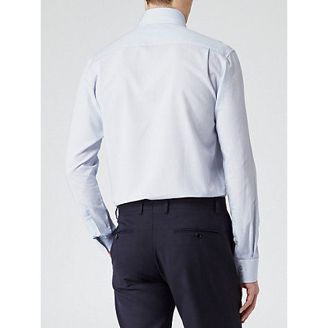 Buy Reiss Discovery Bluff Point Collar Shirt, Blue Online at johnlewis.com