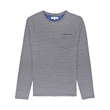 Buy Reiss Trigger Stripe Long Sleeve Top, Blue Online at johnlewis.com