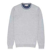 Buy Reiss Elm Lightweight Crew Neck Jumper, Grey Online at johnlewis.com