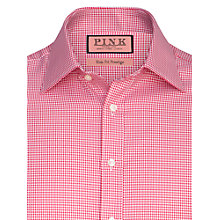 Buy Thomas Pink Kit Check Long Sleeve Shirt, Red/White Online at johnlewis.com