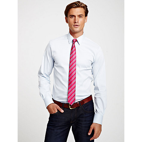 Buy Thomas Pink Lydiard Check Long Sleeve Shirt, Blue/White Online at johnlewis.com