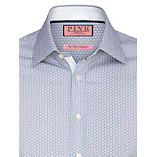 Buy Thomas Pink Richie Textured Long Sleeve Shirt, White/Navy Online at johnlewis.com