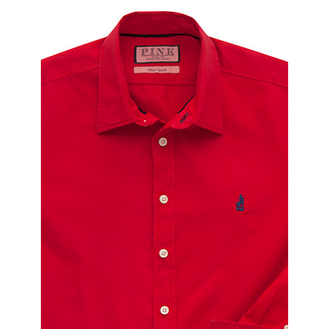 Buy Thomas Pink Drake Plain Button Cuff Shirt, Red Online at johnlewis.com