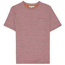 Buy Reiss Olsen Stripe Short Sleeve T-Shirt, Red Online at johnlewis.com