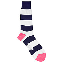 Buy Thomas Pink Rugby Stripe, Navy/White Online at johnlewis.com