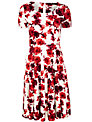 Weekend by MaxMara Printed Jersey Dress, Merlot