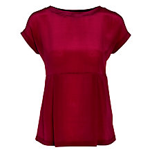 Buy Weekend by MaxMara Silk Fronted Paul Top, Merlot Online at johnlewis.com