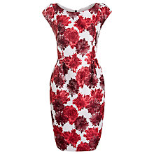Buy Weekend by MaxMara Floral Rino Dress, Dark Red Online at johnlewis.com