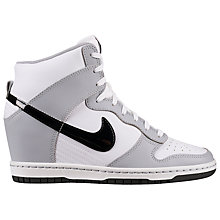 Buy Nike Women's Dunk Sky Hi Trainers, Grey Online at johnlewis.com