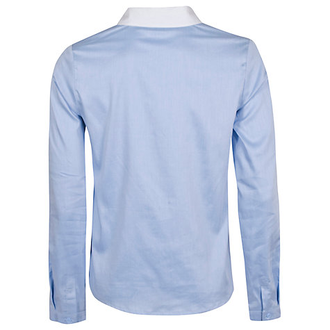 Buy Almari Contrast Collar Blouse, Blue Online at johnlewis.com