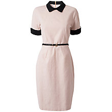 Buy Closet Contrast Belted Dress, Pale Pink Online at johnlewis.com