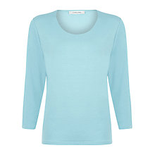 Buy Windsmoor Scoop Neck Jumper, Ice Blue Online at johnlewis.com