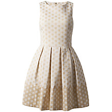 Buy Almari Polka Dot Flared Dress, Cream Online at johnlewis.com