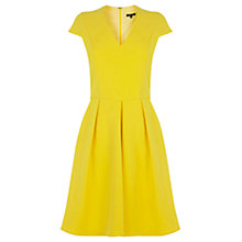 Buy Warehouse Full Midi Dress, Yellow Online at johnlewis.com