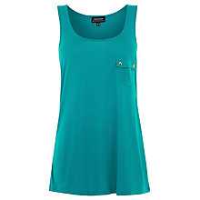 Buy Warehouse Button Pocket Vest, Green Online at johnlewis.com